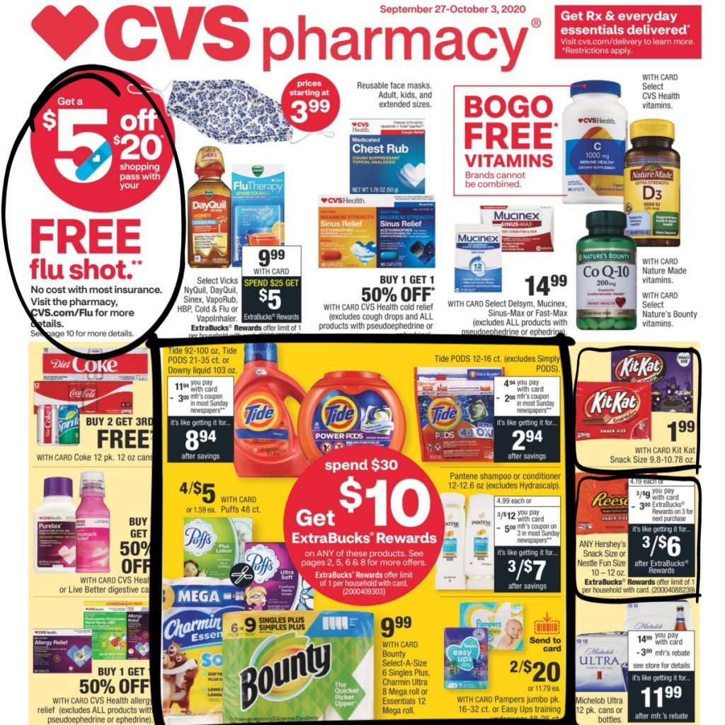 CVS Weekly Ad 9/27 to 10/3 Page 1
