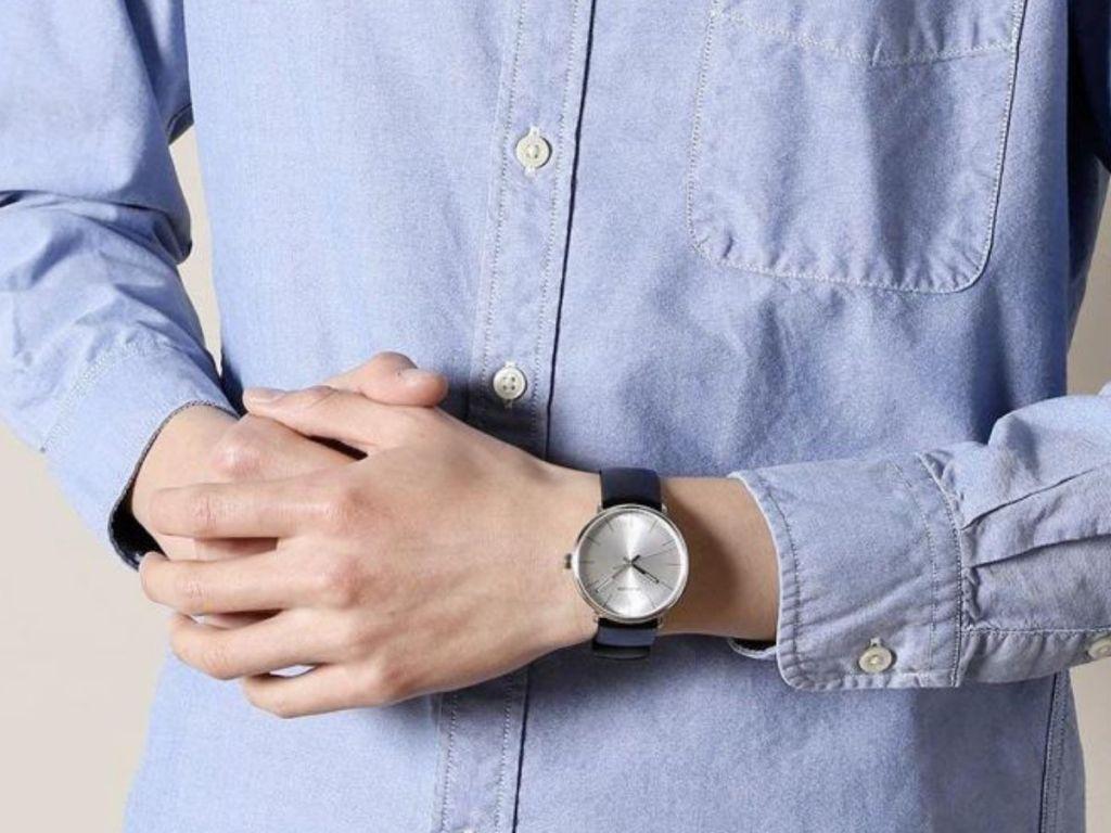 mean wearing Calvin Klein men's watch