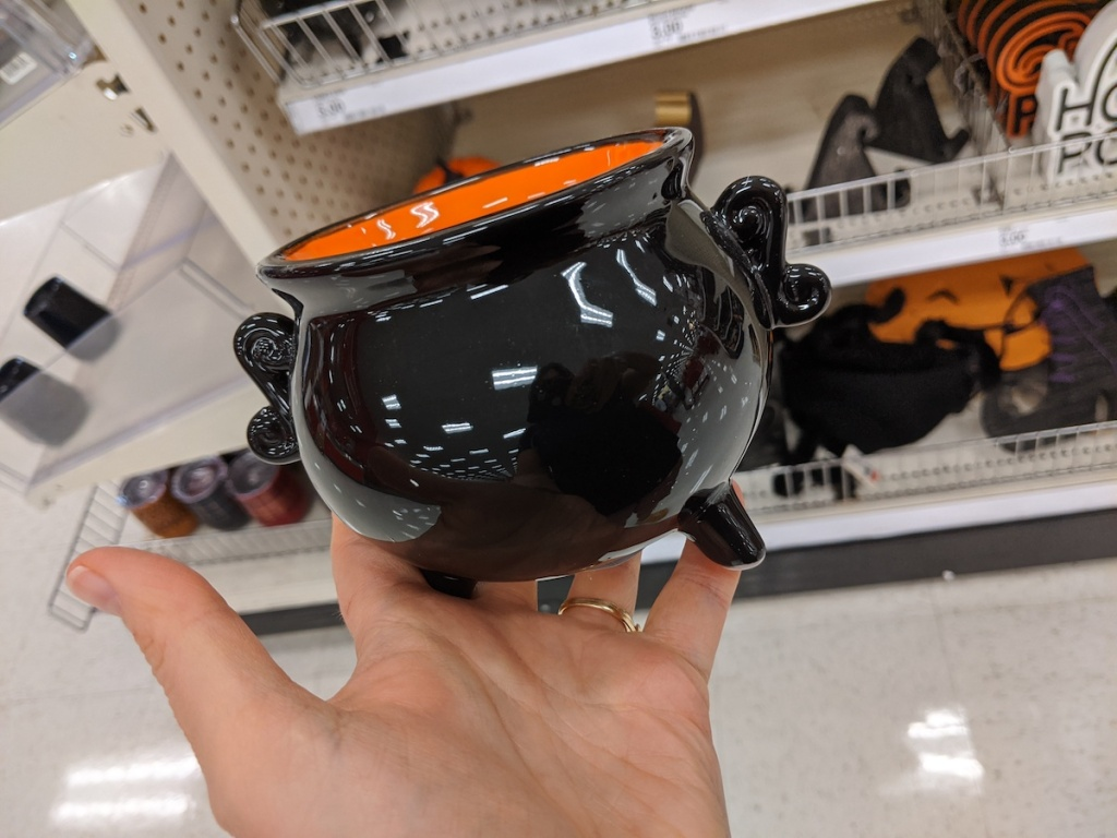 hand holding Candy Cauldron at Target