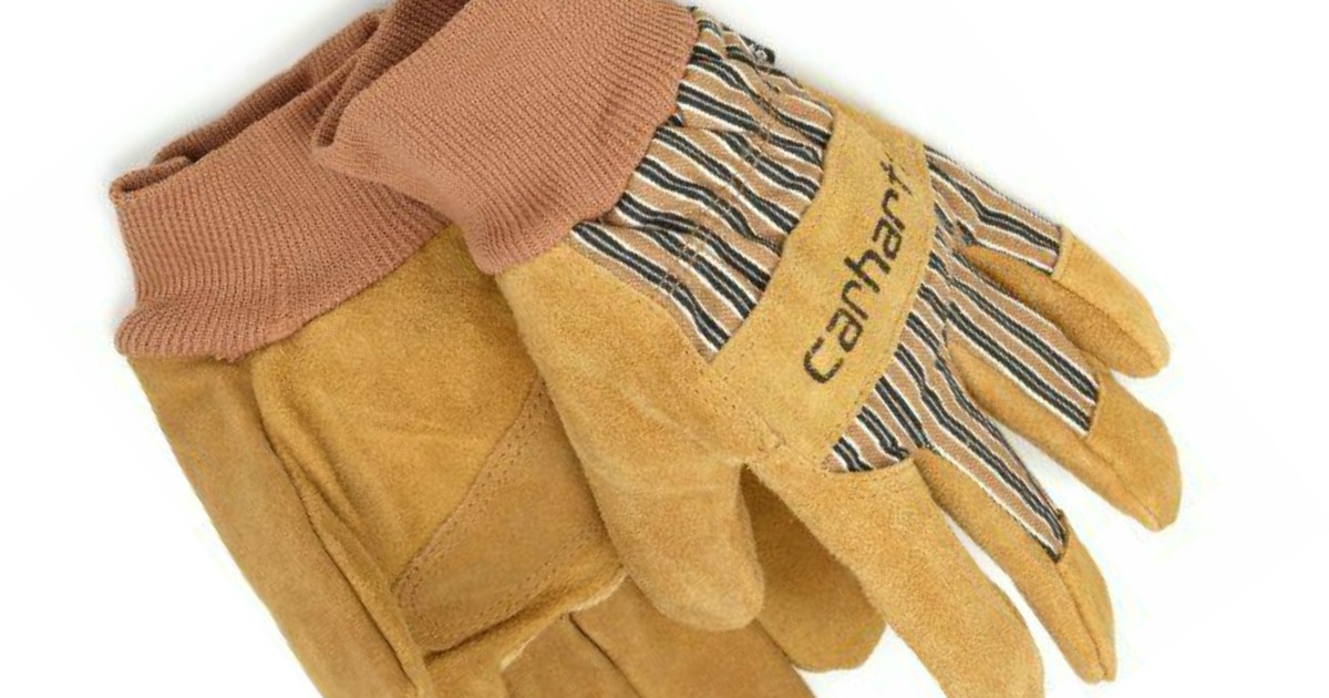 stock image of a pair of carhartt work gloves