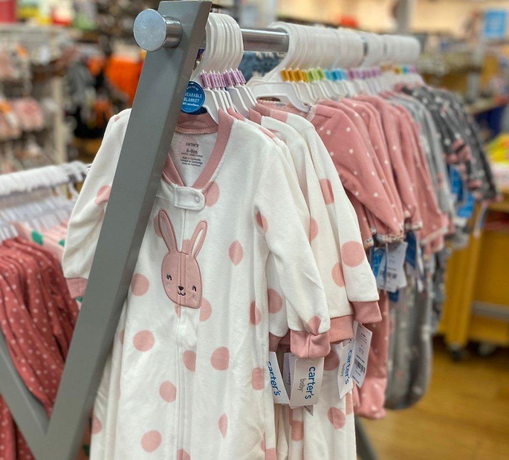 carter's baby sleep bags on hangers