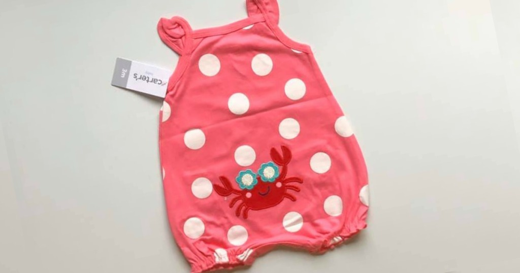Carter's Polka-Dot Crab Romper