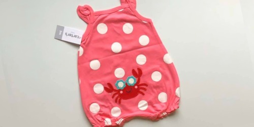 GO! Carter's Baby Rompers Only $2.99 + Much More