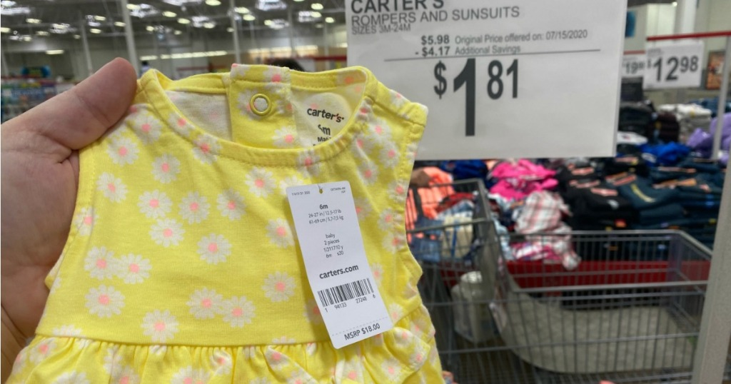 Carter's Rompers from Sam's Club