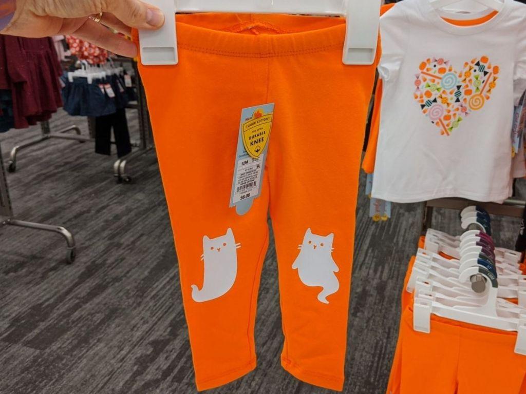 Little girls ghost cat leggings