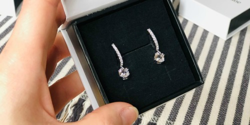 Cate & Chloe 18K Gold Plated Swarovski Crystal Earrings & Gift Box Just $14.80 Shipped