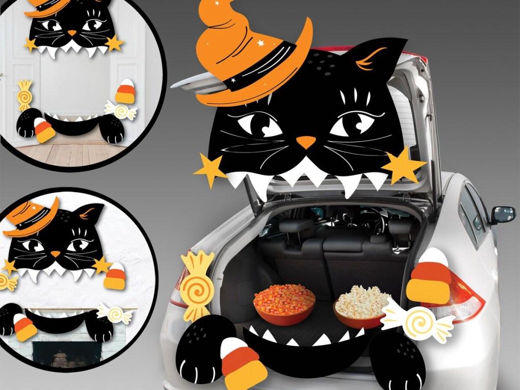 Celebrate It Halloween Black Cat Trunk Decorating Kit