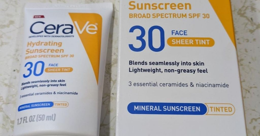 CeraVe sunscreen bottle and box