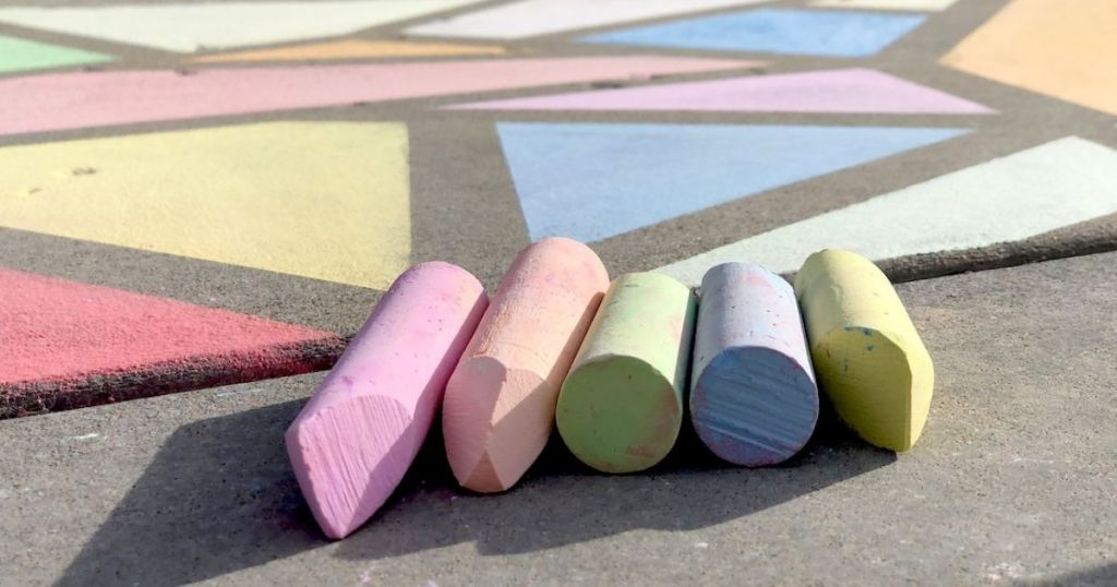 chalk laying in front of drawing