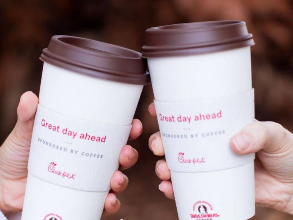 two cups of chick fil-a coffee