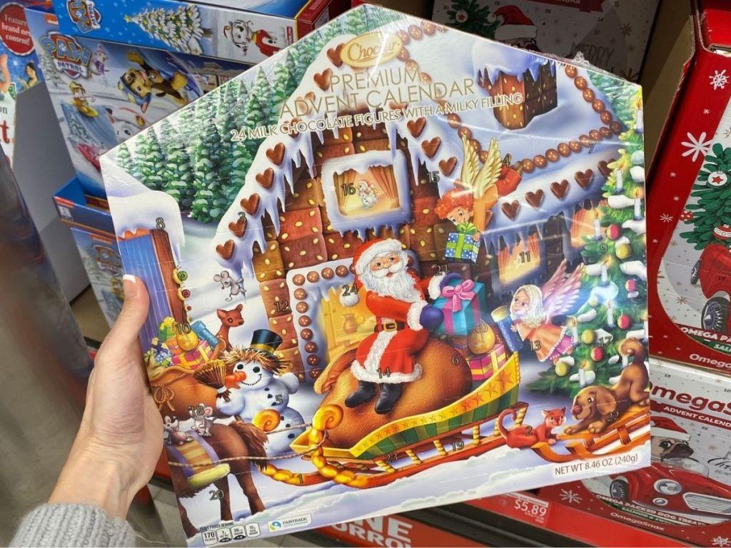 chocolate filled advent calendar