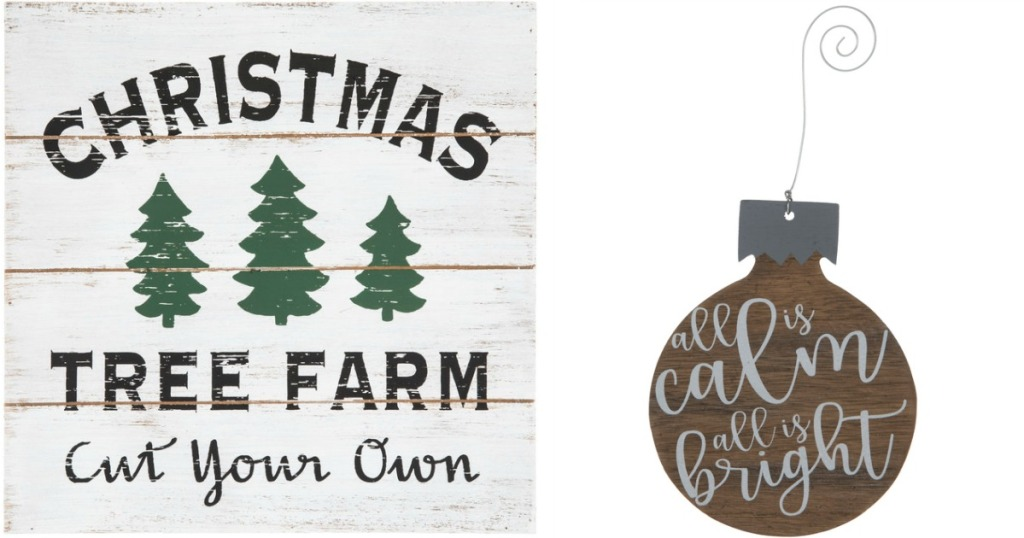 Christmas Wall signs from Hobby Lobby