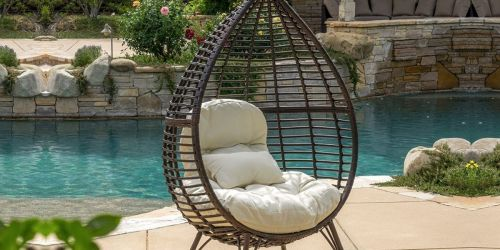 Christopher Knight Home Teardrop Wicker Lounge Chair w/ Cushion Only $289.98 Shipped on Amazon