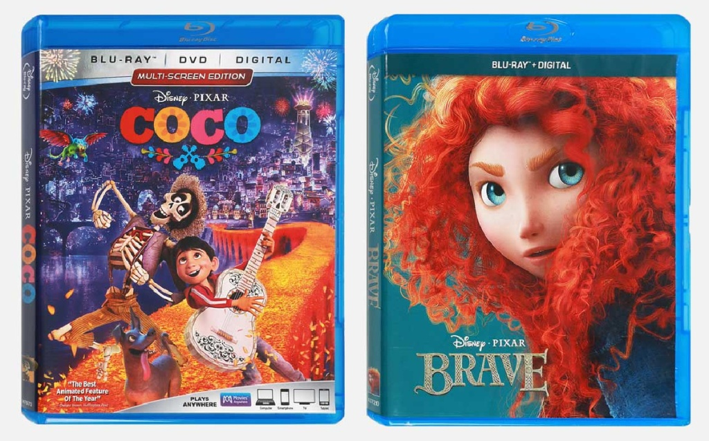 Coco and Brave Disney movies