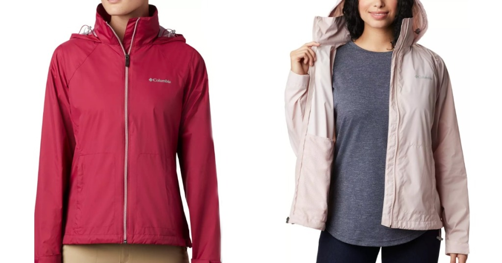 Columbia Switchback Rain Jackets in red and pink