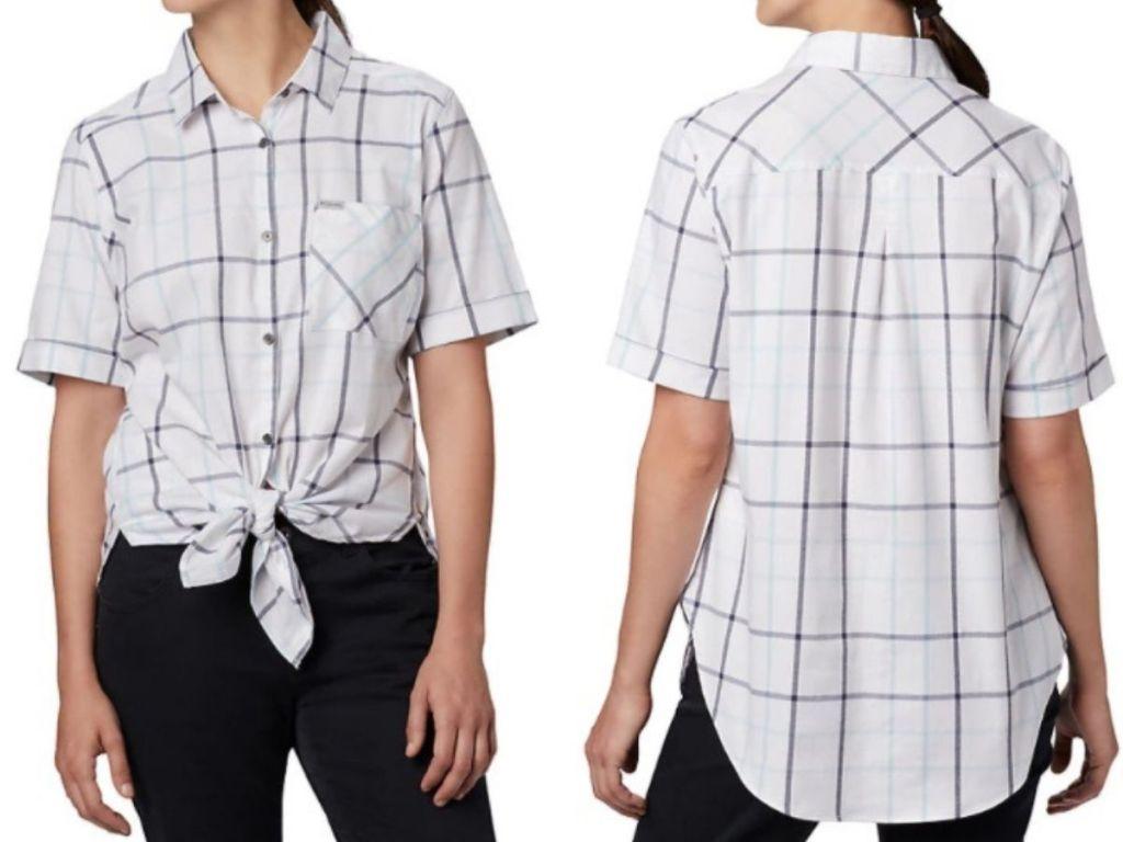 COlumbia Women's Tie-Front Shirt