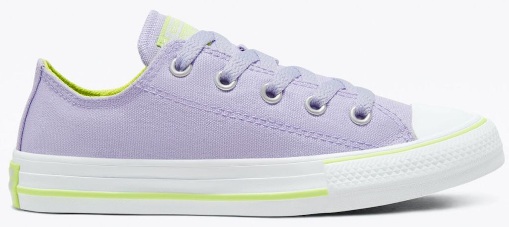 stock image of Converse Seasonal Color Chuck Taylor All Star in Moonstone Violet:Lemongrass