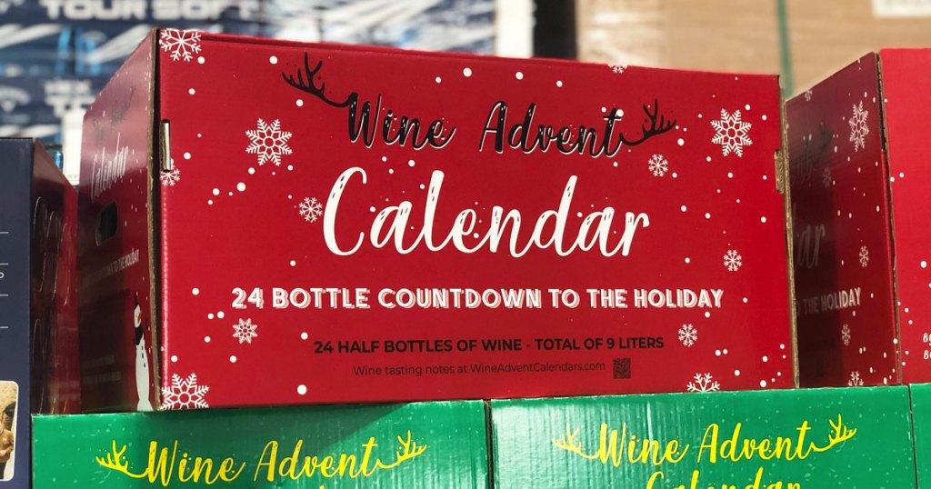 24 bottle wine advent calendar in a red box