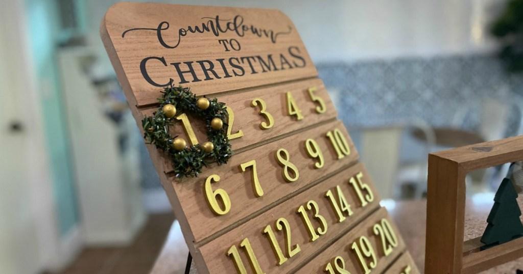 countdown to christmas decor