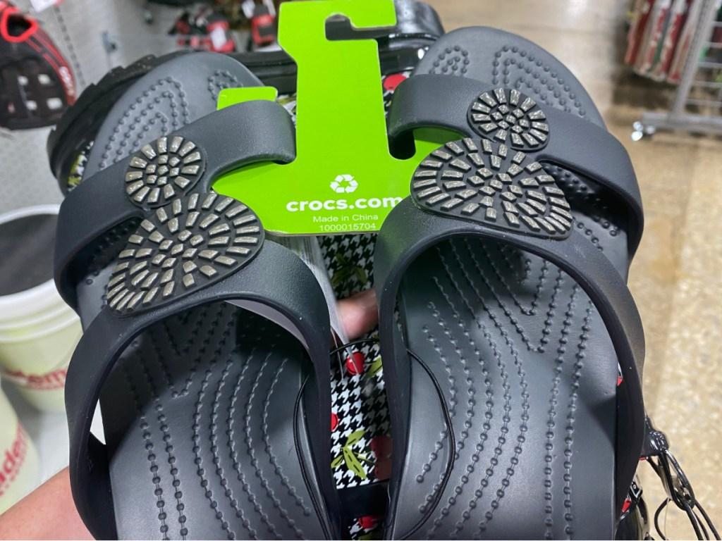 women's black sandals in store