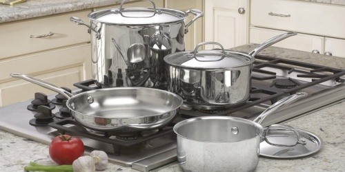 Cuisinart 7-Piece Stainless Steel Cookware Set Only $79 Shipped (Regularly $260) | Great Reviews