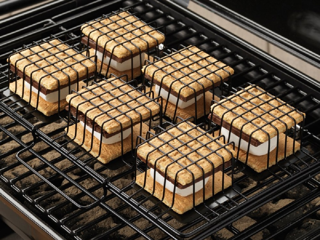 smores on smores maker pan on grill