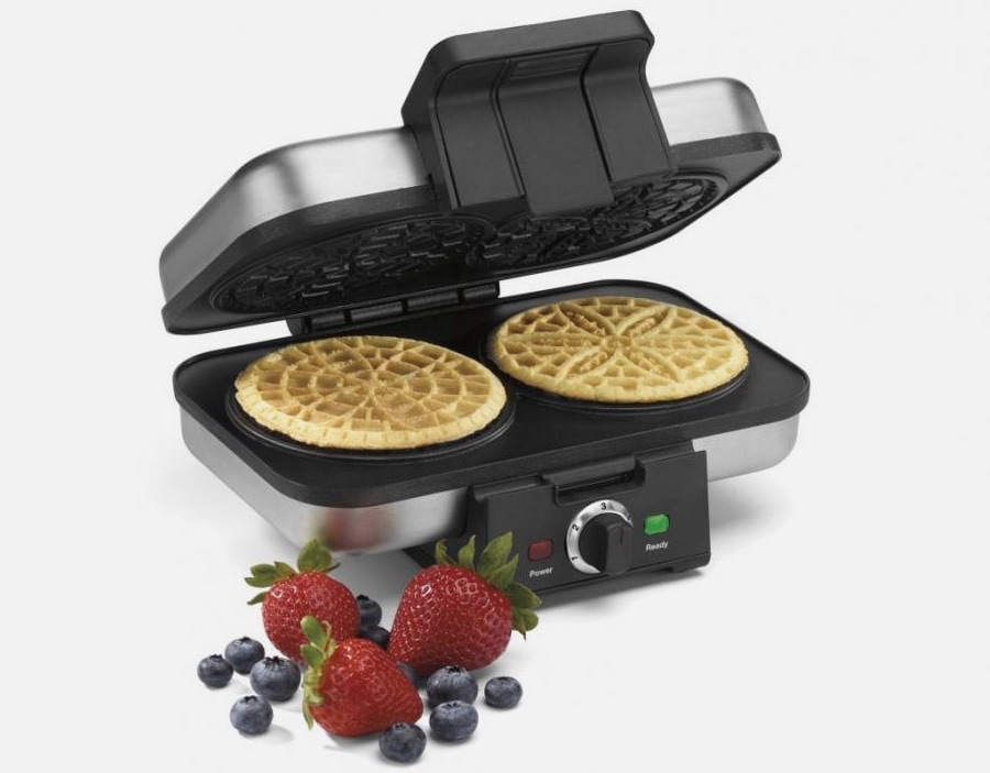 Cuisinart Pizelle Press with fruit next to it