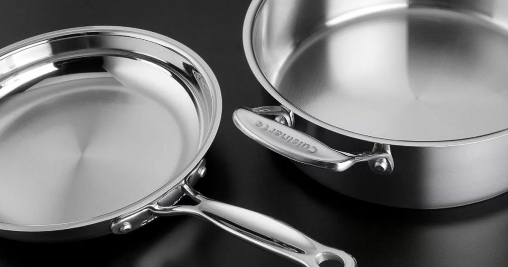 stainless steel pot and pan