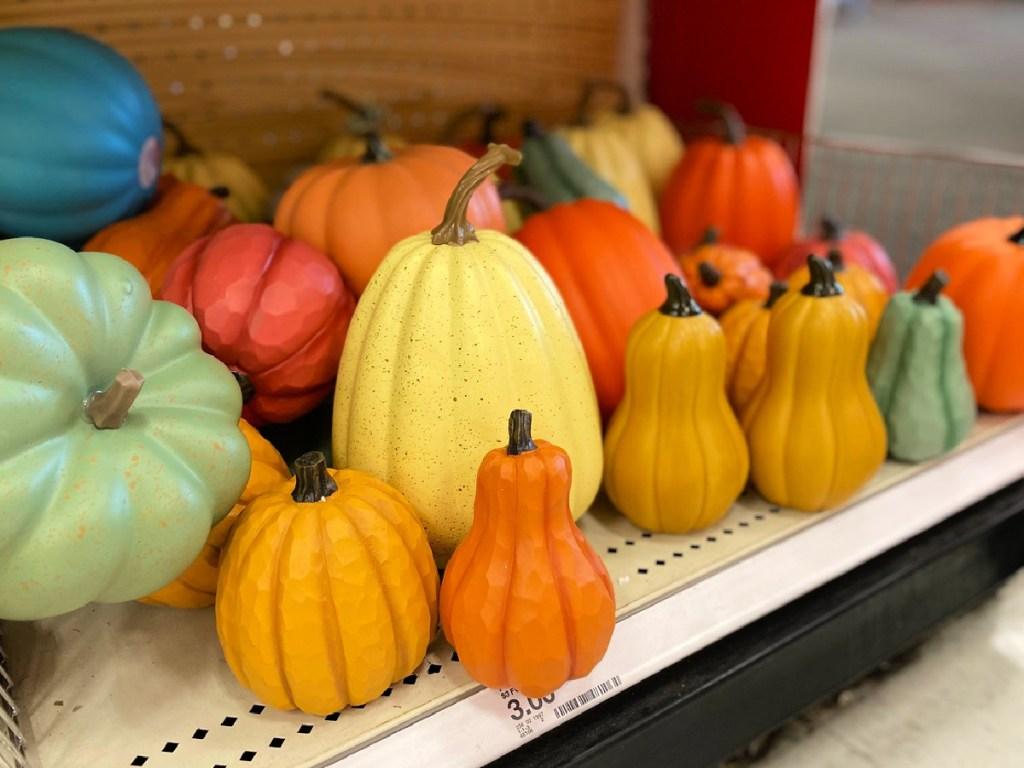 Decorative Pumpkins in Target
