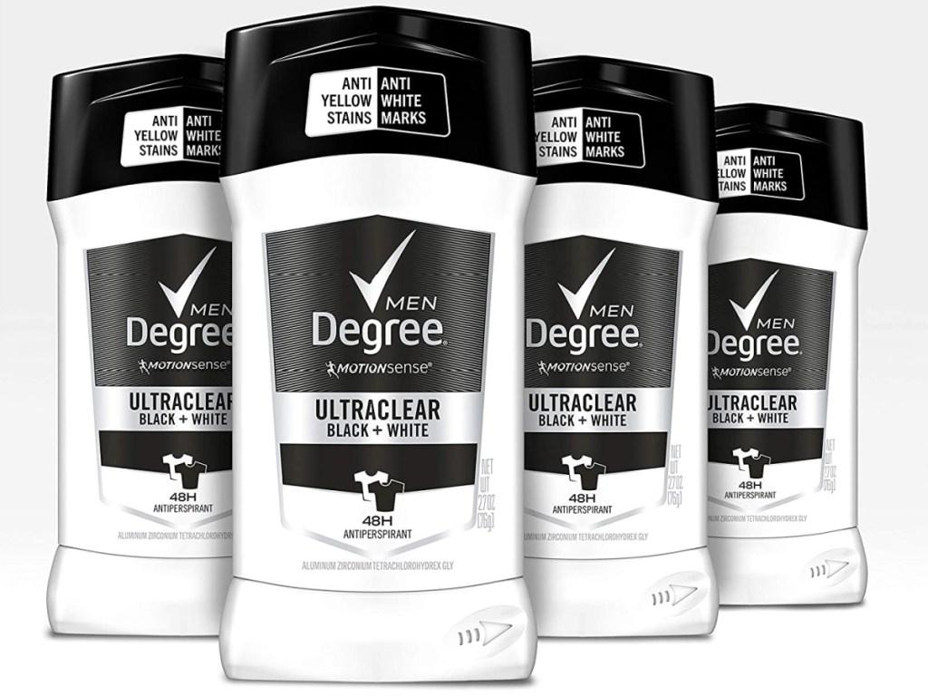 Degree Men MotionSense UltraClear Black+White Deodorant 4-Pack