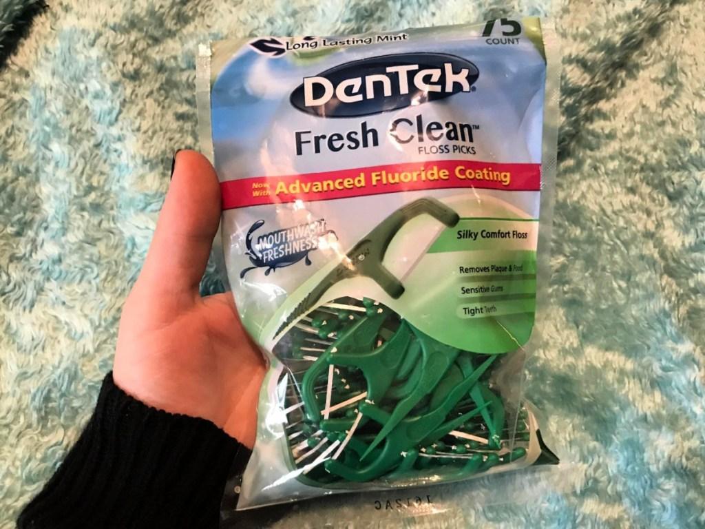 DenTek Fresh Clean Silky Comfort Floss Picks 75-Count