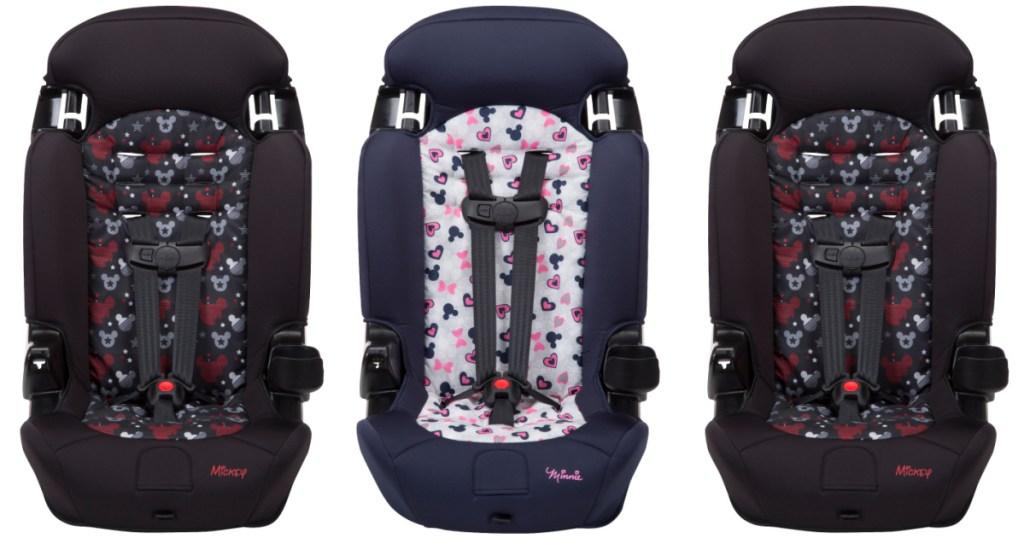 three Disney car seats