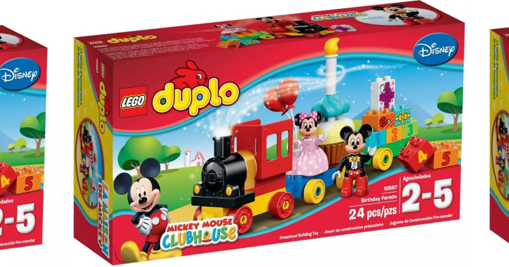Large Disney Mickey Mouse themed LEGO DUPLO set in package
