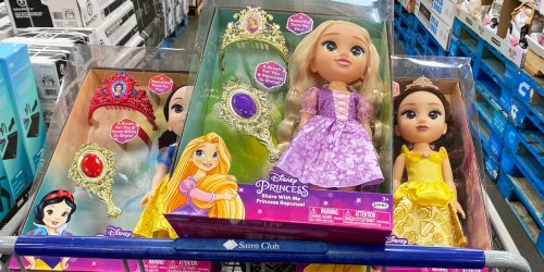 Disney Princess Doll Sets Just $20.98 at Sam's Club | Includes Tiara & Hairbrush for Kids