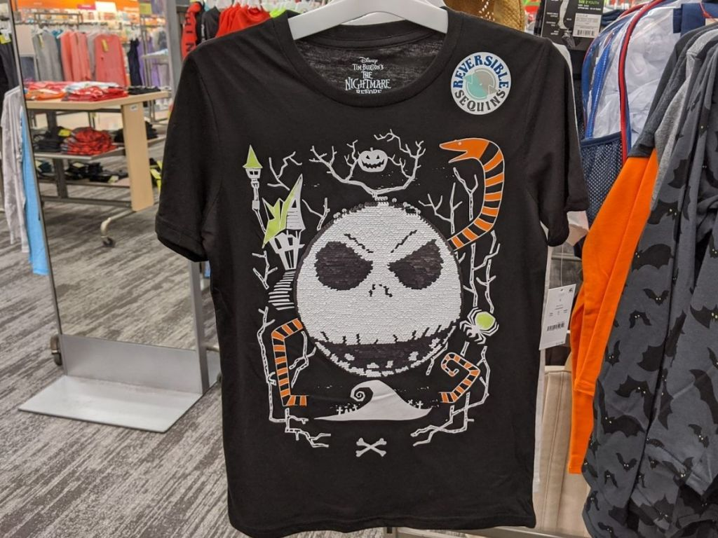 short sleeve t-shirt featuring jack skellington from the nightmare before christmas
