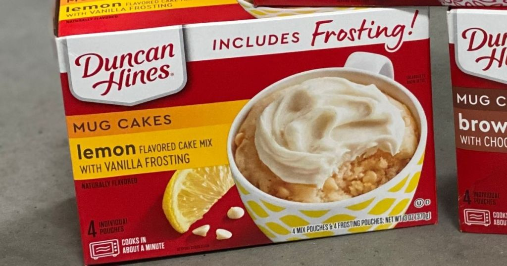 box of Duncan Hines Mug Cake Lemon