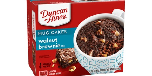 Duncan Hines Walnut Brownie Mug Cakes 4-Pack Just $1.74 Shipped on Amazon
