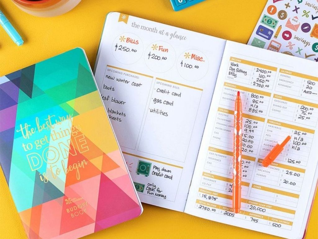 Erin Condren Budget Planning Set with book and stickers