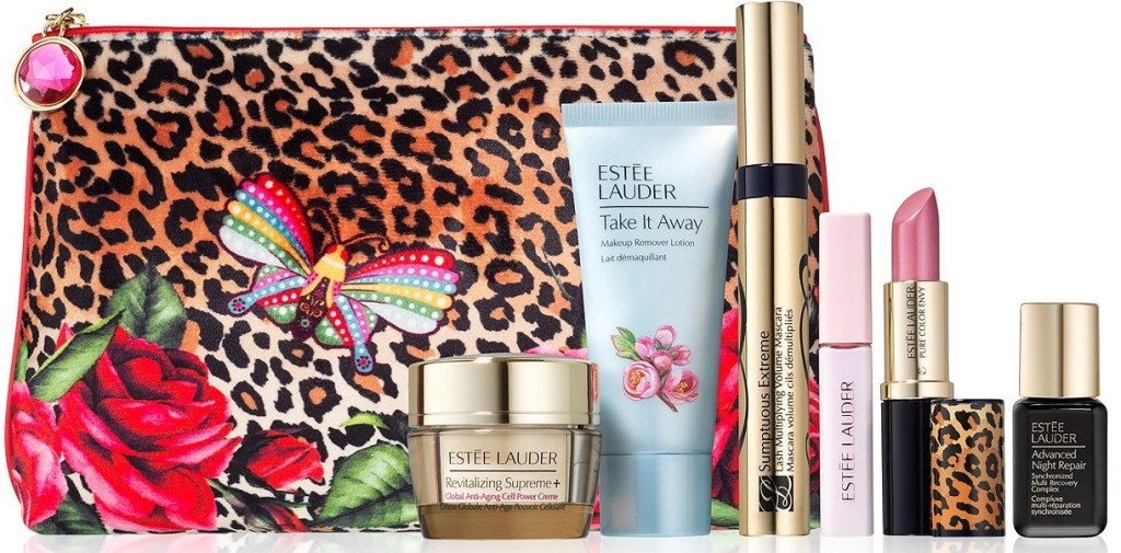 gift bag and estee lauder products