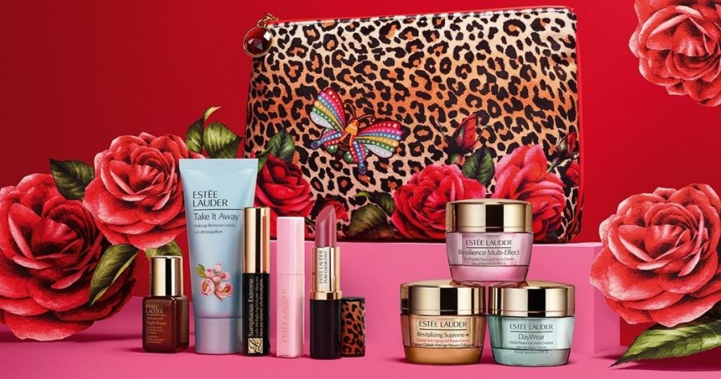 Estee Lauder Gift Set with beauty products