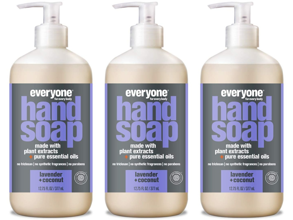 3 bottles of Lavender Everyone Hand Soap