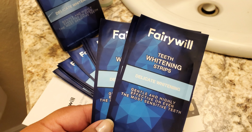 Fairywill 28-Count Teeth Whitening Strips for Sensitive Teeth