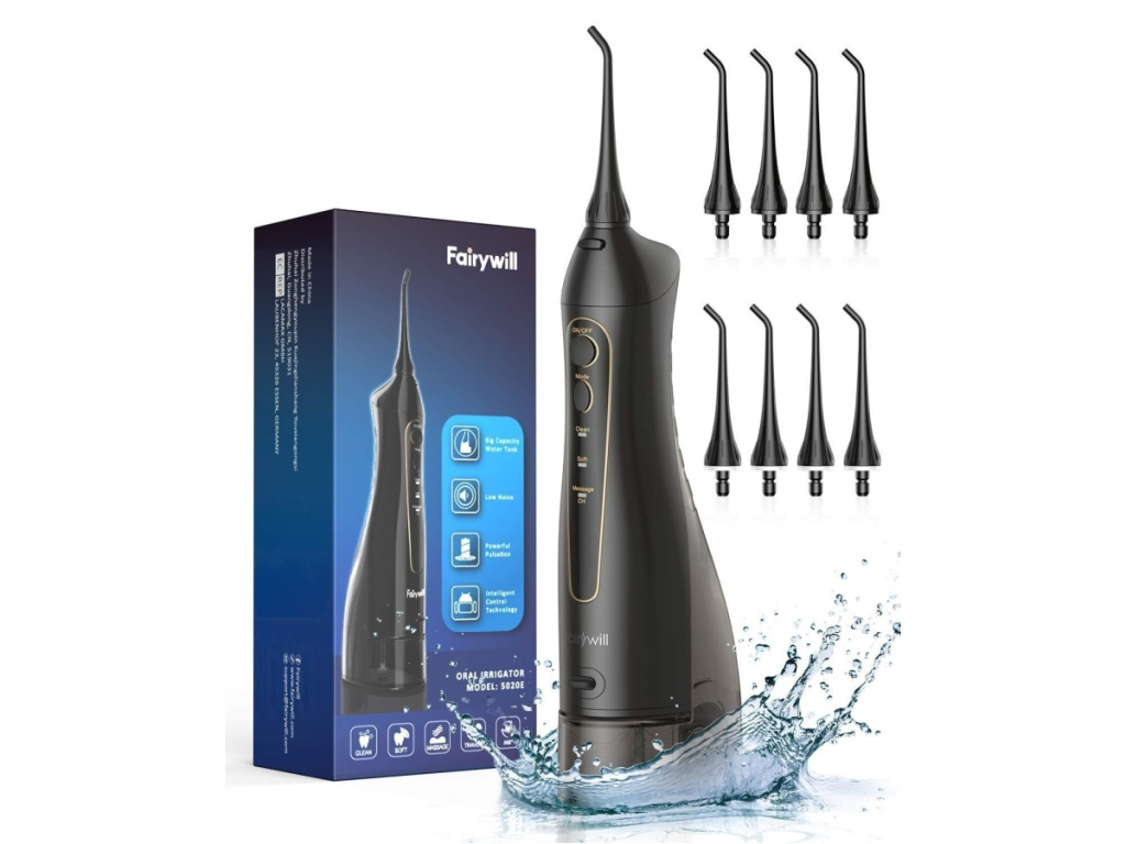Fairywill Water Flosser on Amazon with 8 replacement heads