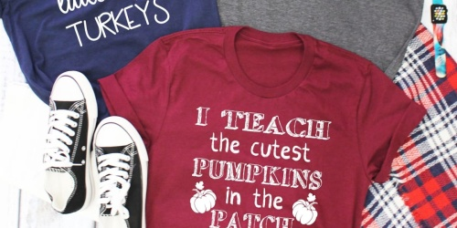 Teacher & Nurse Tees from $12.99 Shipped | Halloween & Fall Designs