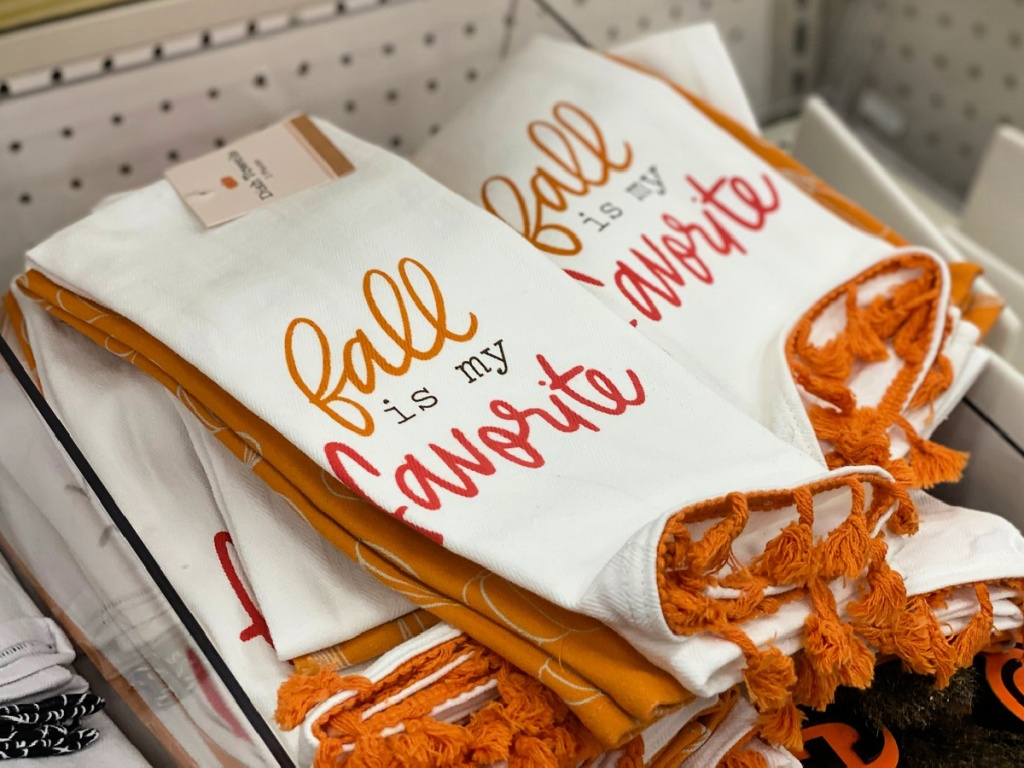 Fall is My Favorite Dish Towels at Target