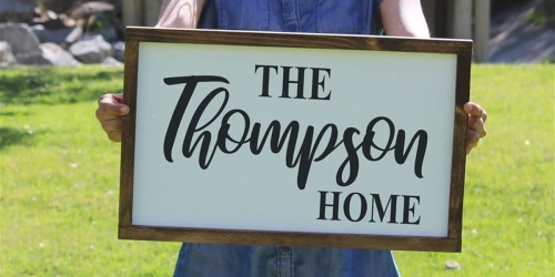 Farmhouse Inspired Personalized Sign Only $34.99 Shipped (Regularly $80)