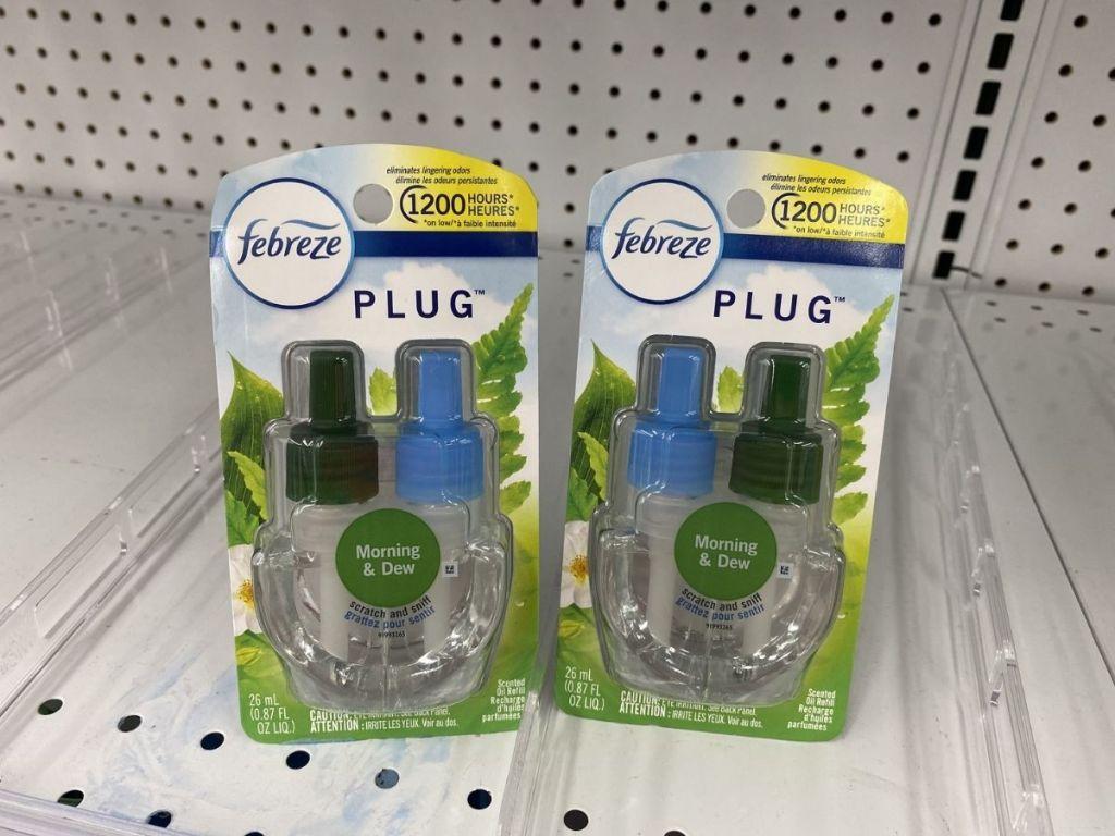 two air fresheners on shelf