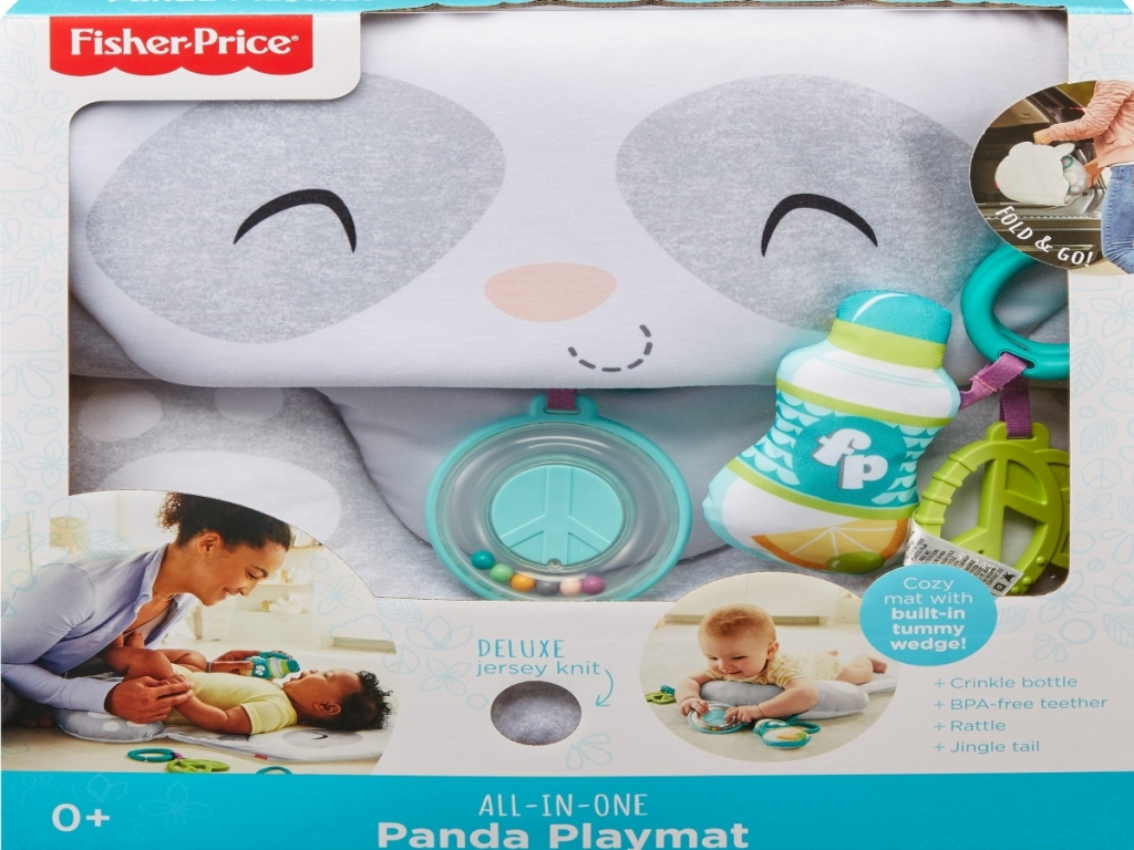 panda baby play mat in a box