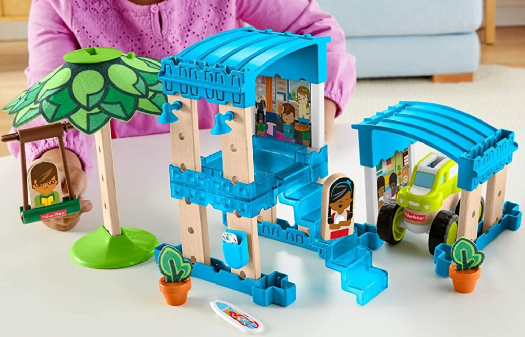 Fisher-Price Wonder Makers Design System 35+ Piece Beach Bungalow