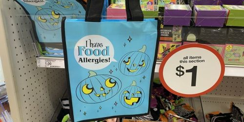 """I Have Food Allergies!"" Halloween Treat Bags Only $1 at Target"
